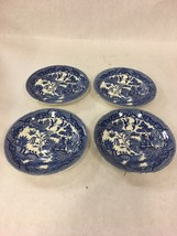 House of  Blue Willow Japan Pagoda Coffee Tea  Saucer only 4 pcs.   Vintage - $27.22
