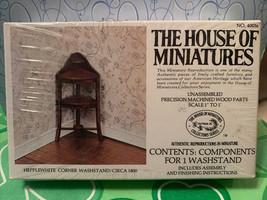 Dollhouse House of Miniatures Hepplewhite Corner Washstand Circa 1800 40056 New  - $14.99