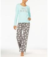Jennifer Moore Womens Knit Top and Printed Pants Pajama Set Party Pugs - $21.99