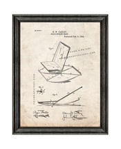Doll's Rocking Chair Patent Print Old Look with Black Wood Frame - $24.95+