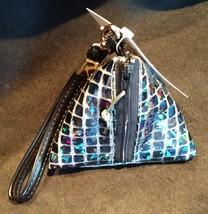 Pyramid Bag/Wristlet/Gift Bag - Black Hologram/Holographic shiny dots