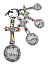 Crosses Believe Faith Christian Metal Measuring Spoon Set - $19.79