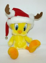 "Hallmark Looney Tunes Tweety Bird ""Santa's Wittle Helper"" Antlers Hat Pl... - $14.84"