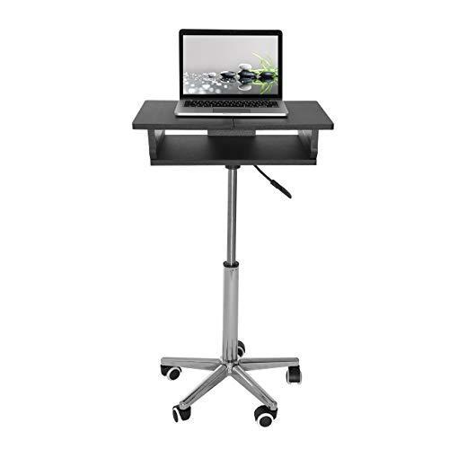 Techni Mobili SIB006-GPH06, Foldable Table Laptop Cart (Graphite)