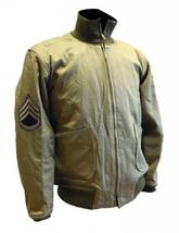 Fury Brad Pitt Wardaddy Battle Tank Commander WW2 Bomber Military Cotton Jacket image 2