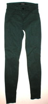 New J Brand Jeans Super Skinny Womens Dark Green Forrest 24 Luxe Sateen ... - $75.60