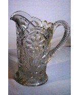 Imperial Glass Cosmos 32 oz. Glass Pitcher 1950's Pattern 474 - $10.70