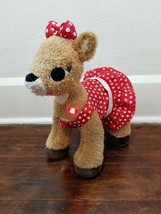 "Build A Bear Clarice Rudolph Red Nosed Reindeer Light up Talking 16"" Plu... - $8.79"
