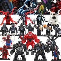 18pcs Marvel Minifigures Venom Riot Carnage Spiderman Anti-Venom Eddie Brock - $39.99