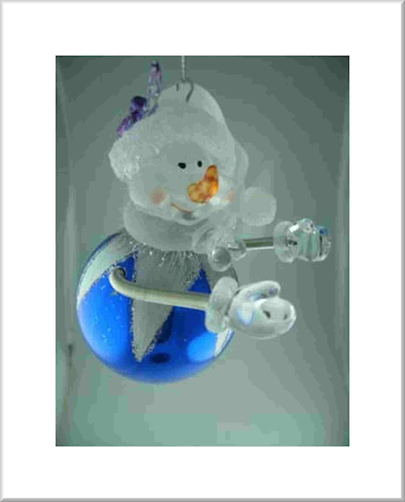 xmas tree hanging snowman made from acrylic in gift box