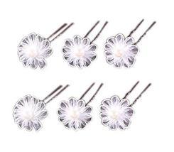 8 Counts Little Daisy Hair Pins White Hair Clips for Women