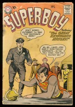 SUPERBOY #58 1957 DC COMICS KRYPTONITE COVER SILVER AGE FR - $37.83