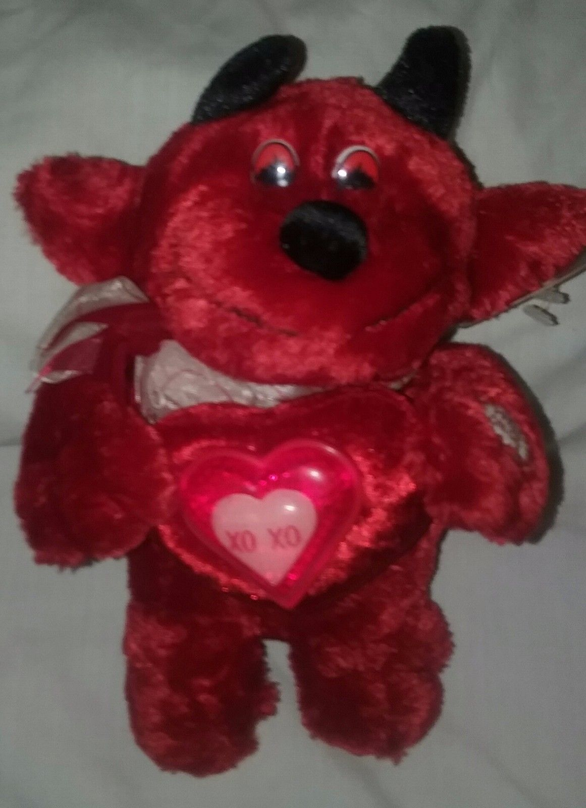Dan Dee Collectors Choice Red Devil Plush Sings and Light UP  (Heat Wave )