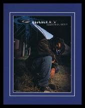 2004 Oakley Industrial Denim Framed 11x14 ORIGINAL Vintage Advertisement - $32.36