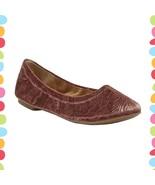 NIB Size 8 Lucky Brand Sable Flower Velvet LK-Emmie Flats Slip On Ballet... - $58.91