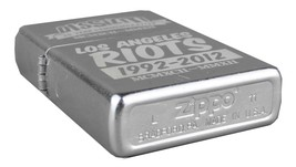 Dissizit! 20 Year Los Angeles Street Riots Commemorative Chrome Zippo Lighter NW image 2