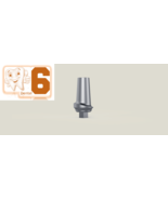 Dental Five Straight Aesthetic Abutments 1mm Shoulder Internal Hex Curve... - $99.00