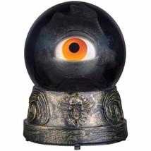 Animated Eyeball Crystal Ball Witch Curse Halloween Decoration Prop Watc... - $34.64