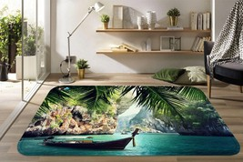 3D Lake Boat 26 Non Slip Rug Mat Room Mat Quality Elegant Photo Carpet U... - $106.68+