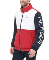 Tommy Hilfiger  Men's Nylon Taslan Retro Puffer Jacket Midnight-Ice-Red - $112.50