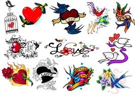 Lovebirds Birds   Temporary Tattoos  - $11.00
