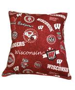 University Of Wisconsin Pillow Badgers 2021 Design HANDMADE In USA NCAA ... - $11.96