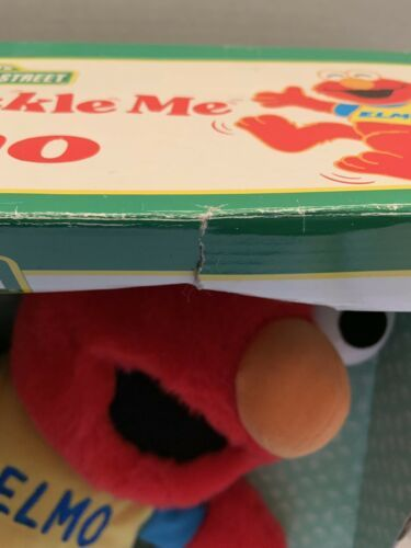 """New in box Toss and Tickle Me Elmo Plush Doll 1997 Tyco 14"""" Sesame Street works"""