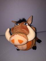"""Disney Lion King Plush Pumba Warthog Talking Feed Me 15"""" 2002 Farts - $25.67"""