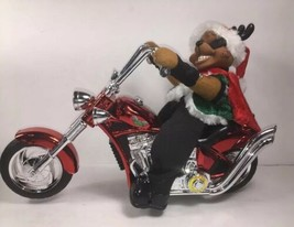 "Dan-Dee 2006 Vintage Reindeer Biker Plays ""Grandma Got Run Over By A Rei... - $46.88"