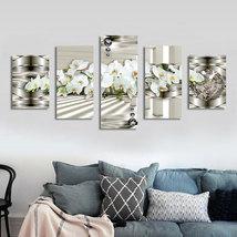 White Flowers DIY Diamond Painting 5D Embroidery Diamond Painting Mosaic... - $29.90