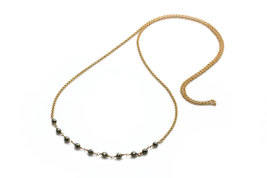 Pyrite necklace,delicate necklace,simple gold necklace,everyday necklace - $58.00+