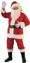 Flannel Santa Claus Suit Christmas Holiday Fancy Dress Halloween Adult C... - $44.99+