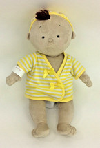 North American Bear Baby Doll Brunette Rosy Cheeks Brown Skin Outfit Plu... - $23.73