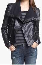 WOMENS BIKER LEATHER JACKET, LEATHER JACKET WIDE COLLAR, LEATHER JACKET ... - $159.99+