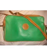 Delane Vancouver, B.C.Canada Green leather crossbody shoulder bag - $15.00