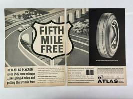 Atlas Tires Plycron Magazine Ad 10.75 x 13.75 Lee Carpet Flexalum Siding - $9.89