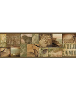 Trumball Wild Game Collage Border Brown Chesapeake Wallcovering TLL01493B - $20.99