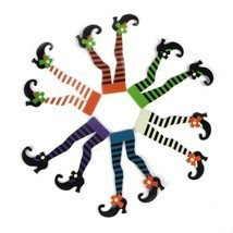 Halloween Witch's Boot Paper Cupcake Toppers Decorations Kit - £7.38 GBP