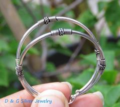 35MM 925 Silver Bali Hoop Earrings  - $22.95