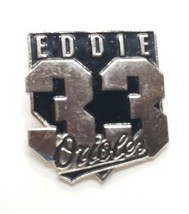 VTG MLB Collectible Pin- 1998 Baltimore Orioles 33 Eddie Murray Baseball Pin - $7.72