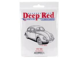 Deep Red VW Bug Rubber Cling Stamp #4X500022