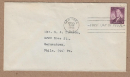 FIRST DAY of ISSUE 1945 .3 C STAMP #937 Alfred E. Smith  - $6.00