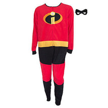 The Incredibles Costume Men's Pajamas Union Suit Mask Zip-Up Red - $40.98