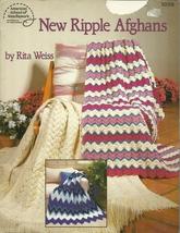 New Ripple Afghans Pattern Book 1058 Knit Crochet Rita Weiss - $6.99