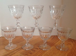 "FOSTORIA COLONY Lot of 6 Water Goblets Glasses  5 1/4"" Lovely American C... - $23.01"
