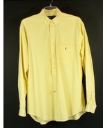 RALPH LAUREN  Size L Men's Yellow Checked Cotton Tilden Shirt - $17.99