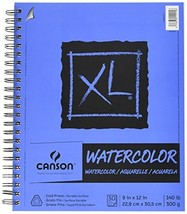 Canson XL Series Watercolor Textured Paper, Use with Paint Pencil Ink Ch... - $15.03