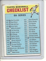 (B-1) 1966 Topps #444: Checklist 6th Series - Marked - Off-Set cut - $5.00