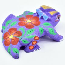 Handmade Alebrijes Oaxacan Copal Wood Carving Folk Art Horned Toad Figurine image 4