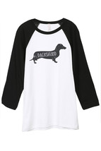 Thread Tank Dachshund Dog Silhouette Unisex 3/4 Sleeves Baseball Raglan T-Shirt  - $24.99+